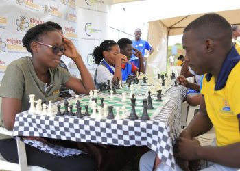 Individuals competing in Chess during the first outing of the 2020 Corporate Games. (PHOTO/Courtesy)