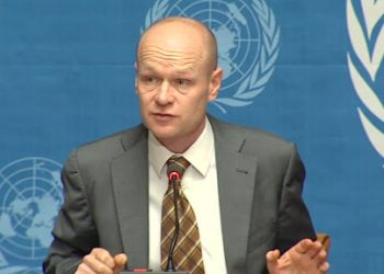 Deputy Spokesperson Jens Laerke, Office for the Coordination of Humanitarian Affairs (PHOTO/File).