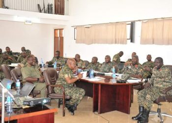 Gen Elwelu said that the UPDF leadership decentralized smaller construction projects to the end user units applying direct labour while the strategic headquarters undertakes major projects such as the ongoing construction of a UPDF National Referral Hospital in Mbuya (PHOTO/PML Daily)