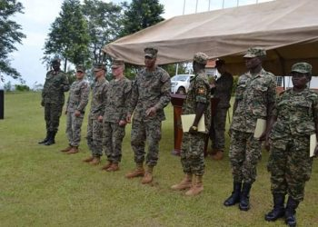 Several UDPF engineers have been skilled by US Marine Forces (PHOTO/UPDF)