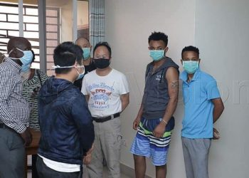 Chinese nationals who illegally entered Uganda on Thursday night to avoid undergoing quarantine have been arrested. Reports from the ministry of health indicate that they were found at Trupart Apartments in Naguru, Kampala (PHOTO/NEW VISION)