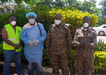 UPDF medics prepare to fight coronavirus (PHOTO/Courtesy).