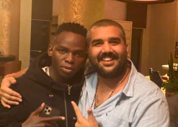 John Blaq (left) poses for a picture with Rajiv (Right) recently. (PHOTO/Courtesy)