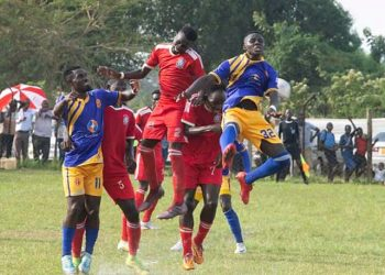 Action between KCCA FC and Doves at the Katushabe Grounds on Thursday. (PHOTO/Courtesy)