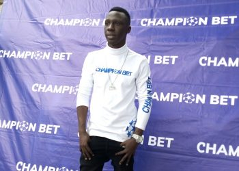 Douglas Lwanga all white  after his new gig for Champion Bet ( Photo / Abraham)