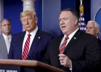 US President Donald Trump and Secretary of State Mike Pompeo respectively (PHOTO/File).