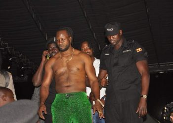 The first time singer Bebe Cool was pelted with bottles on stage