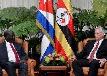 Cuba president Mr Miguel Diaz Canel Bermudez