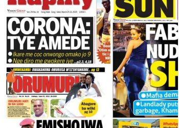 Vision Group has suspended several publications including the Kampala Sun as the Coronavirus economic crunch bites (PHOTO/Collage).