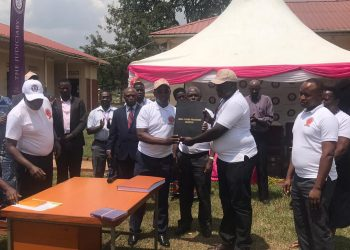 Principal judge launching SCP at Kiryandongo court (PHOTO/PML Daily)