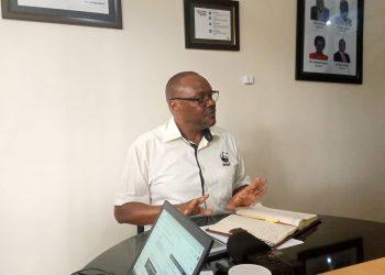 Mr. David Duli speaks to media at his office in Kampala (PHOTO/File)
