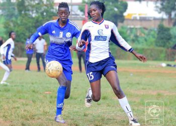 Action between Kampala Queens and She Corporates at Kabojja on Wednesday. (PHOTO/FUFA)