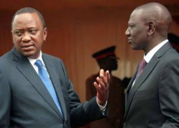 President Kenyatta and his deputy William Ruto are in bitter fallout (PHOTO/Courtesy)