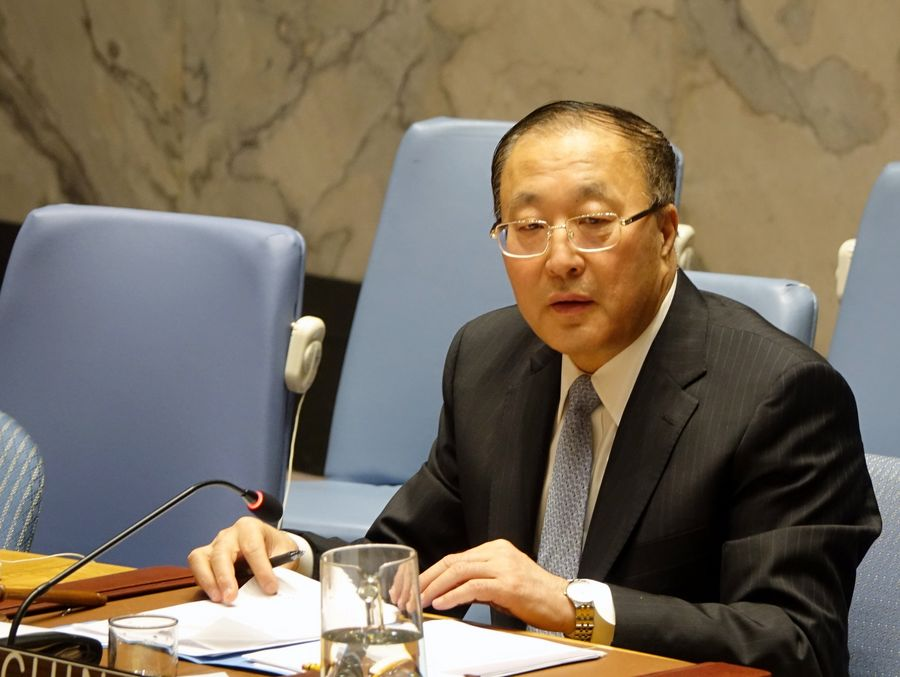 Zhang Jun, China's permanent representative to the United Nations and president of the Security Council for the month of March, speaks at a UN Security Council meeting at the UN headquarters in New York, on March 10, 2020 (PHOTO/Courtesy).