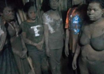 Some of the women tortured by army officers implementing coronavirus directives in Elugu