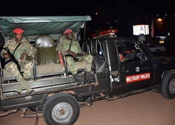 UPDF motorized team monitoring to conduct of taskforce in Kampala (PHOTO/Courtesy).