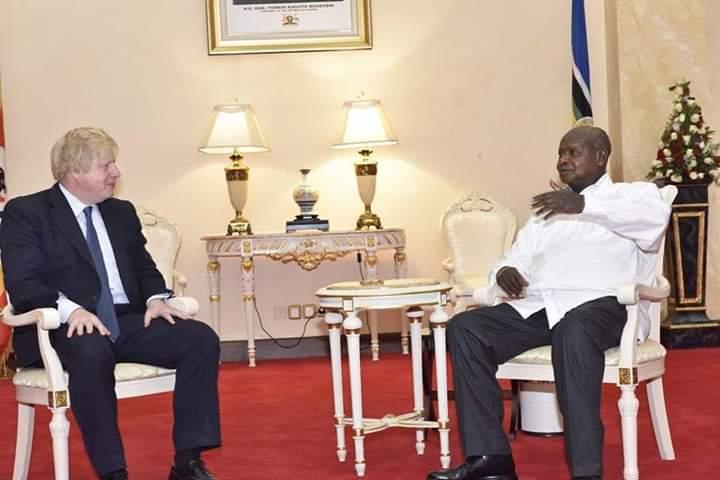 President Museveni and UK PM Boris Johnson (PHOTO/PPU)