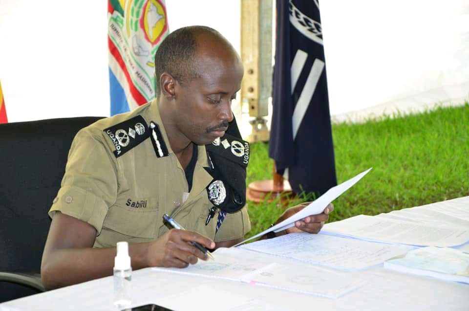 Sabiiti Muzeeyi, the Deputy Inspector General of Police attend the presentation of 2019 police crime report at police headquarters in Naguru on Tuesday (PHOTO/Courtesy).