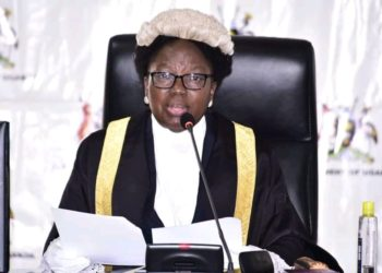 Speaker Rebecca Kadaga during a plenary sitting (PHOTO/Courtesy).