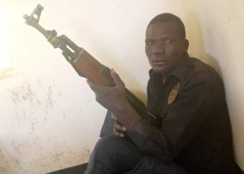This is the photo of the gun which was recovered in Kotido with the warrior who suspectedly killed prison warder in Amita prisons (Photo by Jonathan Opolot