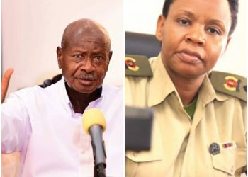 President Museveni (L), has instructed his military assistant Lt. Col. Edith Nakalema to crackdown on errant security personnel, singling out undisciplined LDU's (PHOTO/File).