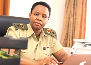 Lt. Col. Edith Nakalema, the head of the Anti-Corruption Unit of State House has been directed to  deal with errant officers in the fight against COVID-19 (PHOTO/File)