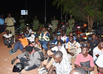 Some of the Ugandans arrested in city centre for defying COVID-19 directives (PHOTO/File)