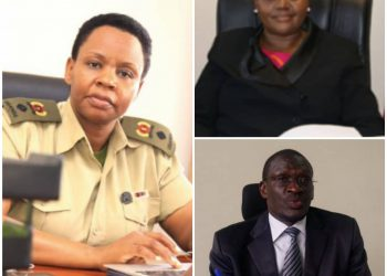 Lt. Col. Edith Nakalema (L) has caused the arrest of top OPM officials Christine Guwatudde (top R) and Martin Owor (bottom R) (PHOTO/File).