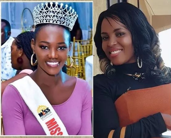 Miss Uganda (L) was mistreated by Top TV show host Joan Lule Nakintu (R) to the chagrin of the public. Ms Lule now faces the sack at the tv station (PHOTO/File).