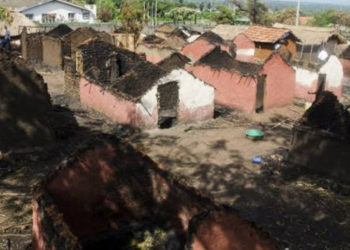 A lot of properties were destroyed and several lives lost in 2016 attack on Rwenzururu Kingdom in Kasese (PHOTO/File).