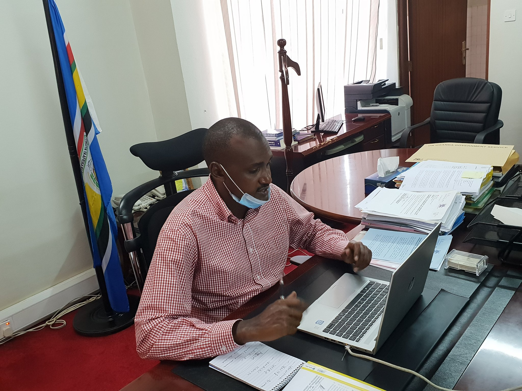 Frank Tumwebaze, the Minister for Gender, Labour and Social Development declared unopposed Member of Parliament for Kibale East ahead of 2021 general elections (PHOTO/Courtesy)
