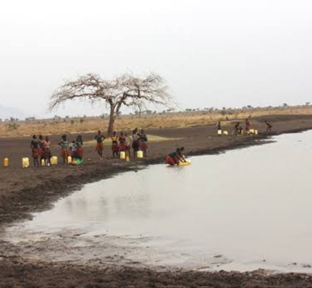Karamoja residents line up to fetch water at one of the valley tanks (PHOTO/File).