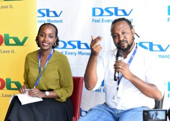 L-R: Ms. Joan Semanda, the Public Relations and Communication Manager, and Mr. Colin Asiimwe, the Head of Marketing at MultiChoice Uganda (PHOTO/Courtesy).