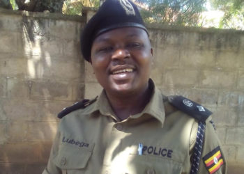 The arrested Agago District Police Commander Samson Lubega (PHOTO/File).