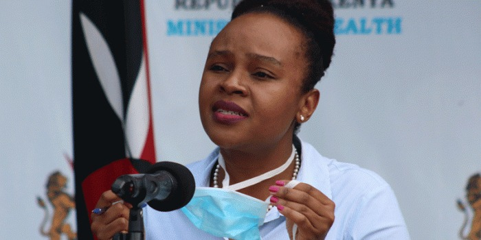 Kenya's Health CAS Mercy Mwangangi during a press briefing (PHOTO/Courtesy)