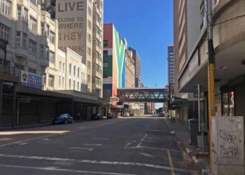 An empty street in Johannesburg, South Africa, April 17, 2020. (Xinhua/Zodidi Mhlana)