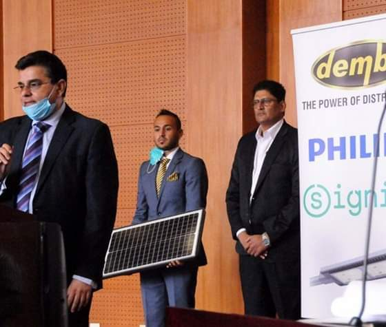 Dembe Group in partnership with Danish Refugee Council will also install four philips solar lighting at Rhino Camp Refugee settlement (PHOTO/Courtesy)