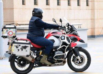 Deputy speaker Jacob Oulanya riding to work on Friday (PHOTO/Courtesy).