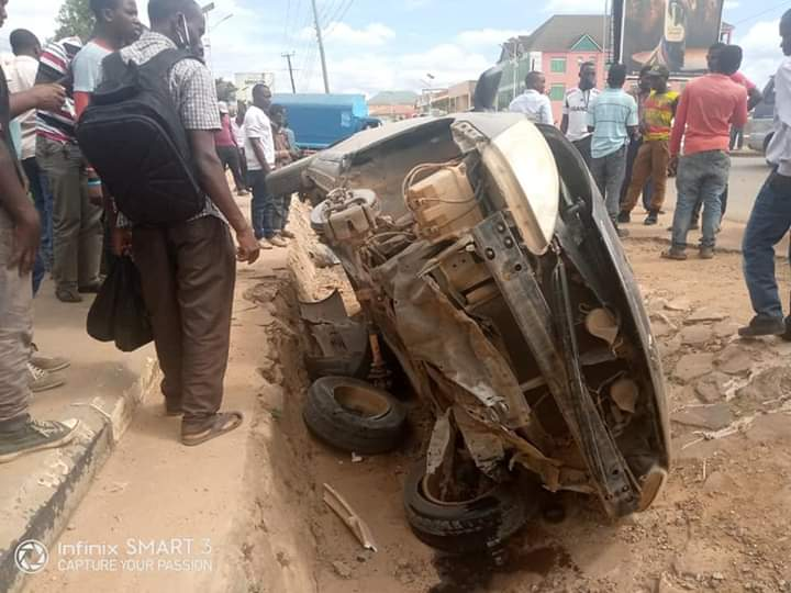 One of the cars involved in accident (PHOTO/Courtesy)