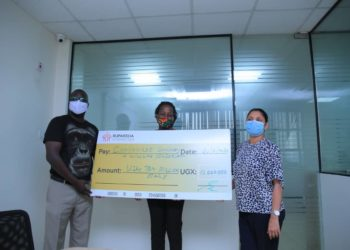 Ruparelia Foundation of Sudhir Ruparelia donated UGX 10 million to support Chimpanzees at Ngamba Island (PHOTO/Courtesy)