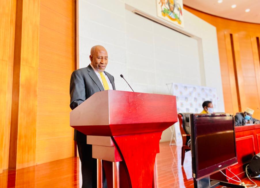 Premier Ruhakana Rugunda during the Manifesto launch