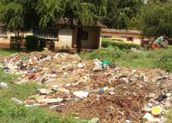 heap of garbage heap near the borehole in South division in Moroto Municiplaity (PHOTO/Opolot Jonathan)