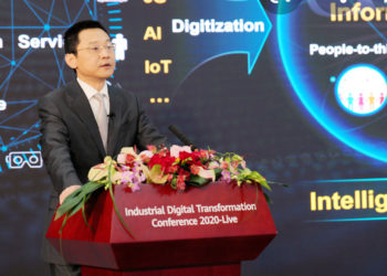 Chen Kun Te, Huawei Chief Digital Transformation Officer during a previous summit (PHOTO/File).