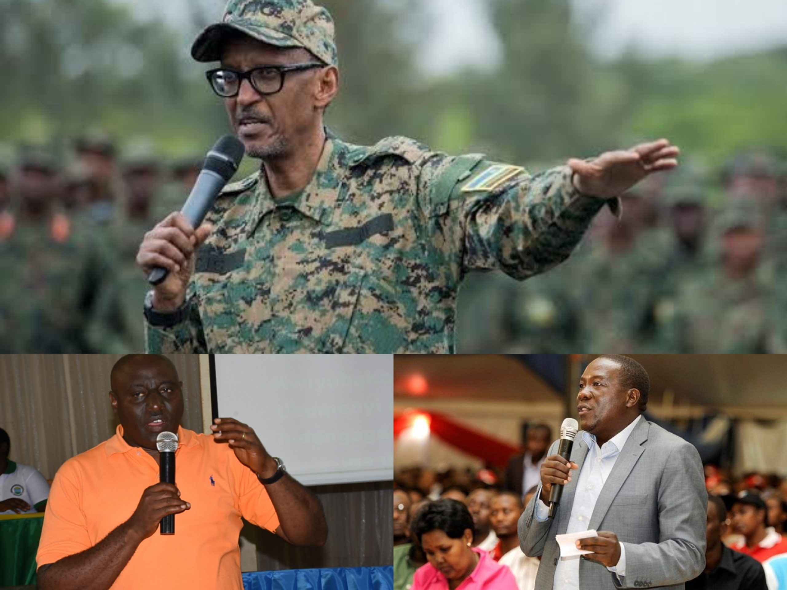(Top)President Paul Kagame, BottomL Emmanuel Gasana, Southern Province Governor (BottomR)  Jean Marie Vianny Gatabazi (PHOTO/File)