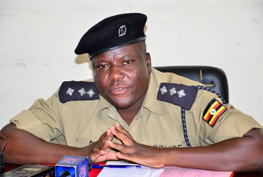 SP Patrick Onyango, the Kampala Metropolitan Police spokesperson addressingthe press (PHOTO/File).