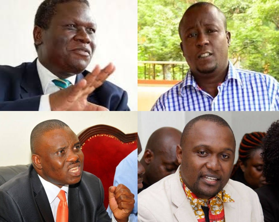 DP's Nobert Mao (topL), Mr. Joseph Kabuleta (topR) Lord Mayor Erias Lukwago (BottomL) and Dr. Ekwaro Ebuku (BottomR) have joined calls to end lockdown in the country (PHOTO/File).