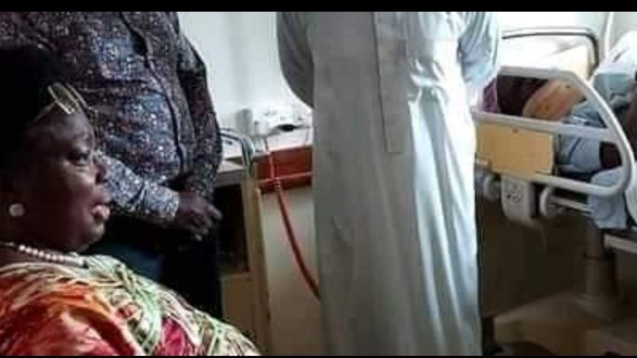 Speaker Kadaga visited tortured MP Zaake at Lubaga Hospital over the weekend (PHOTO/Courtesy).
