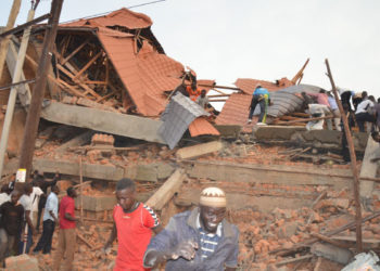 The recently collapsed building in Makindye Lukuli that claimed 15 lives (PHOTO/File).