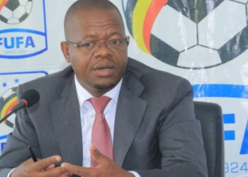 FUFA President Moses Magogo during Friday's Big League consultative meeting. (PHOTO/Courtesy)