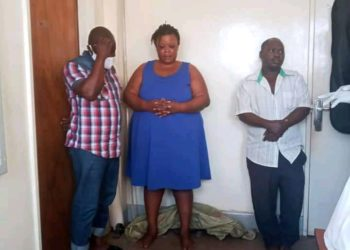 The arrested suspects at Kampala Central Police Station (PHOTO/Courtesy).